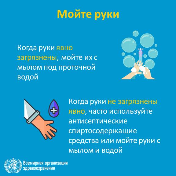 Памятке по профилактике вирусных инфекций от Всемирной Организации  Здравоохранения